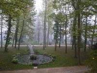 朝靄の庭園