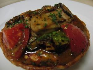牡蠣とムールのキッシュパイ