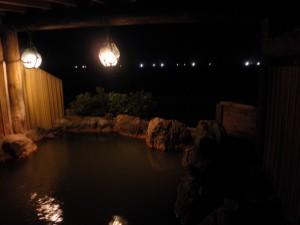 露天風呂から漁火