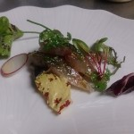 ランチの前菜 鯖のマリネ